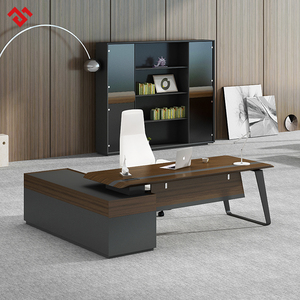 Modern Wood Veneer Executive Desk Office Furniture MDF Luxury Executive Office Desk Furniture