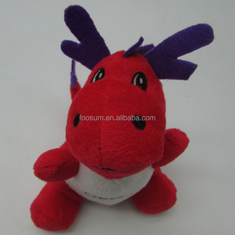 animal stuffed red cute dinosaur plush toy