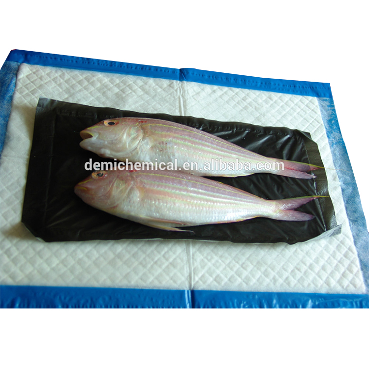 Guaranteed Quality Punch PE Film Seafood Fish Food Absorbent Pad