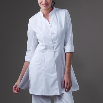 White women tunic spa beauty salon uniform buy spa for Spa uniform colors