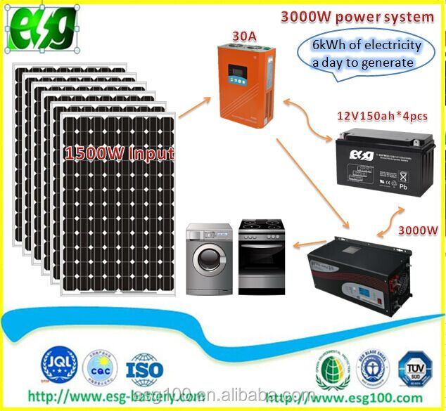 Home Use Complete Set 3KW Solar Power Syetem Generate 8kwh Electricity Off-Grid Solar <strong>System</strong>