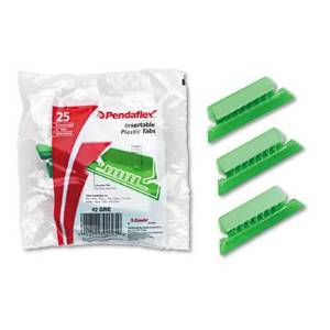 Pendaflex Products - Pendaflex - Hanging File Folder Tabs, 1/5 Tab, 2 in, Green Tab/White Insert, 25/Pack - Sold As 1 Pack - Color-matched to Pendaflex hanging file folders. - Blank white inserts included. - Create your own headings, wide enough for three lines of type. - Pliable plastic design