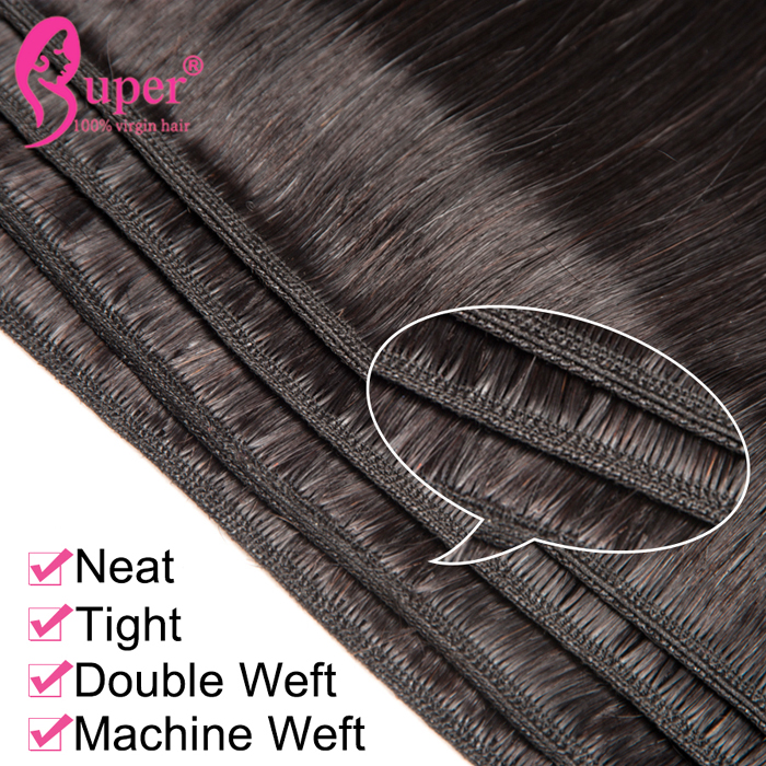 Wavy Human Natural Hair Extension Machine Weft Straight Products Weaves For Black Women Private Label