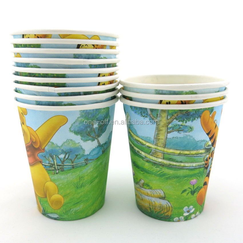 customized design paper coffee cups,large disposable cups,purple single wall paper cups