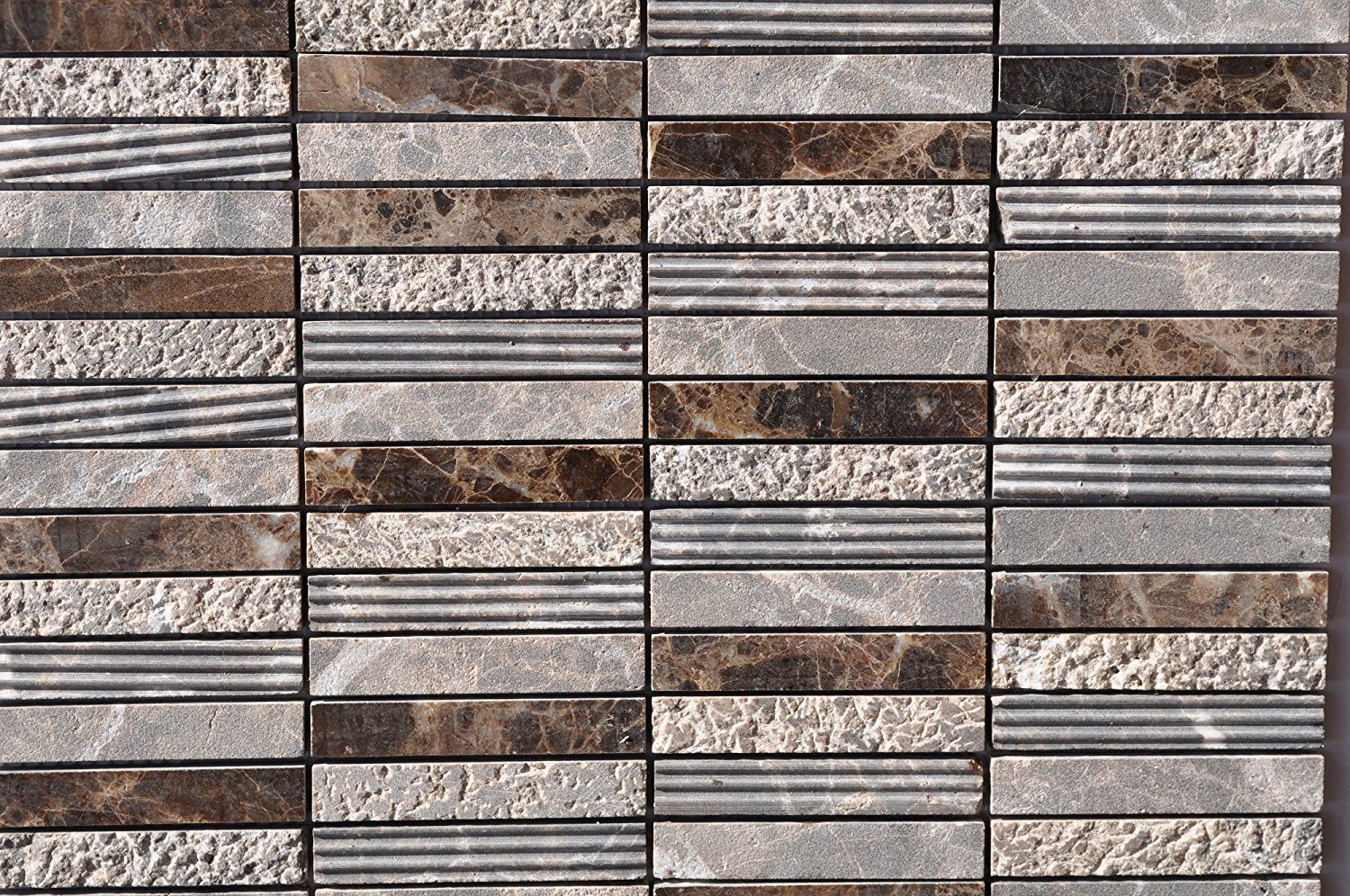 Dark Emperador Stacked Pattern Mixed Surface - FOSSSD13PDE