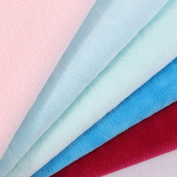 100% polyester fabric wholesale for pajamas warmth flannel fleece fabric