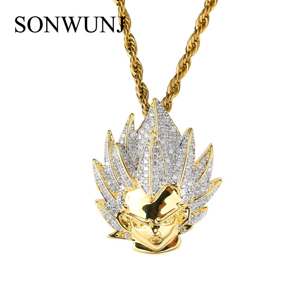 Bling bling Hip Hop Cartoon Pendant Copper Micro pave with CZ stones Necklace Jewelry for men and women CN012