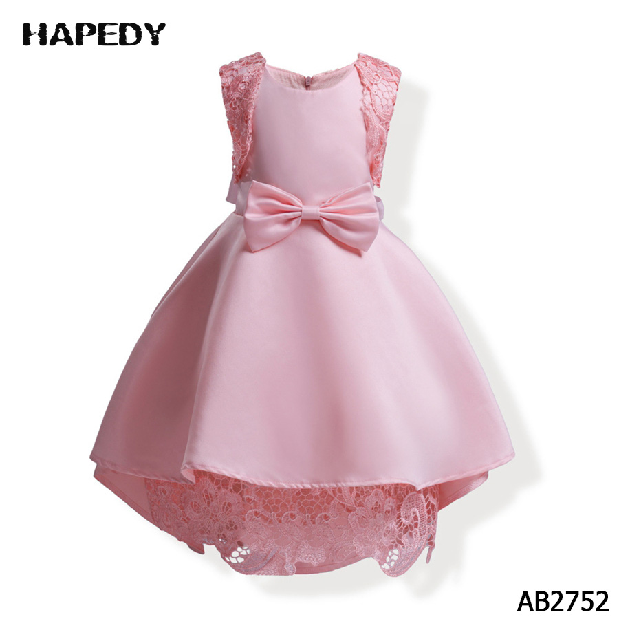 Blue Pink Sleeveless Lace Little Girl Wedding Party Formal Dress ...