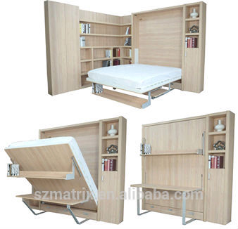 Proveedor de china de la pared plegable cama plegable de - Cama plegable escritorio ...