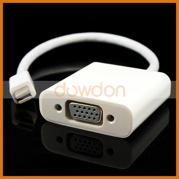 For Apple Macbook Thunderbolt to VGA and Audio Adapter