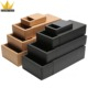collapsible cheap brown/black craft paper mini gift packaging box drawer box