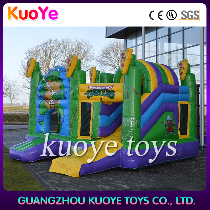 inflatable Ninja Turtles jumping castles and slides,funny inflatables trampoline,commercial jumping castles and slides