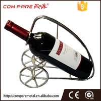 chrome finish metal tricycle wine rack for 1 bottle