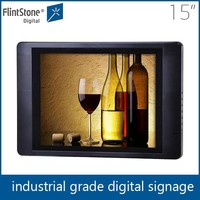 "Retail shop advertising 15"" wall mount pop monitors"
