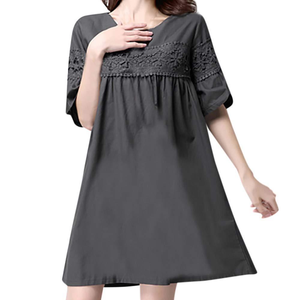 7190d45f13c Get Quotations · Big Promotion Caopixx Dresses for Women Long Sleeve Casual  Loose T-Shirt Dress Party Midi