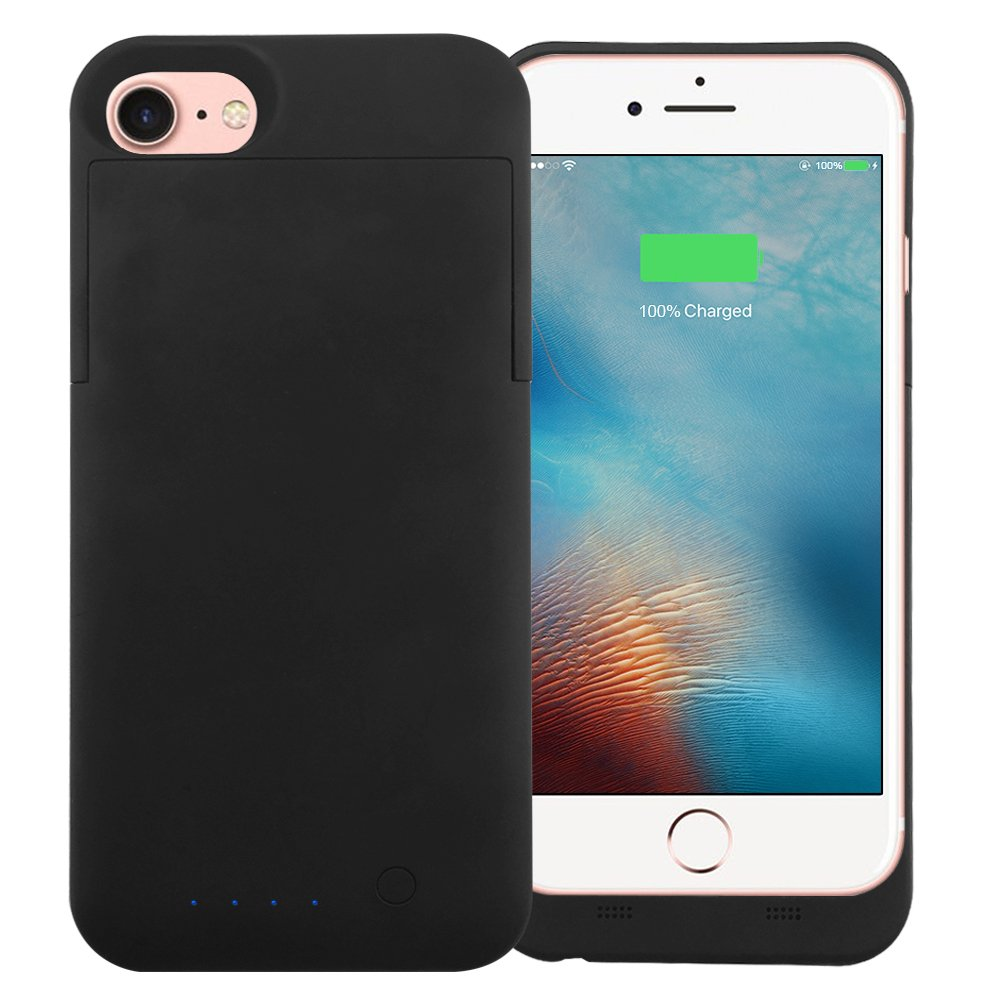 Wingco iPhone 7/6/6S Battery Charger Case -Wingco 3200mAh Cell Phone Battery Pack, Back Up Power Bank, Portable Charging Case for iPhone 7/6S/6- MFI Apple Certified, Black