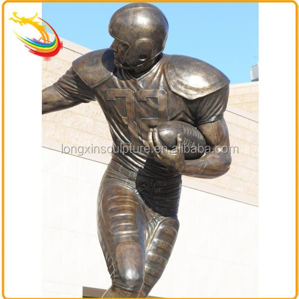 Life Size Metal Cast Bronze Sport Self Made Man Sculpture for Sale