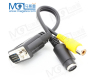 VGA SVGA TO S-Video 3 RCA Composite AV TV Out Converter Adapter Cable
