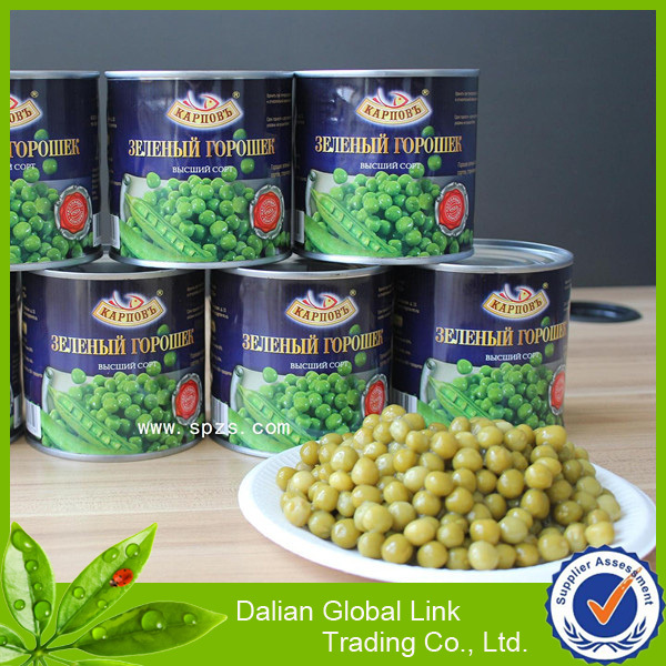 green peas canned vegetable factory in China