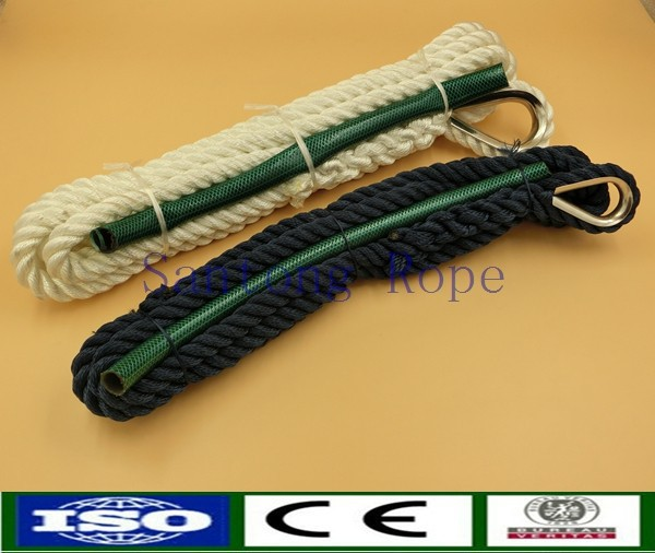 Double braided nylon boat docking lines Mooring Rope