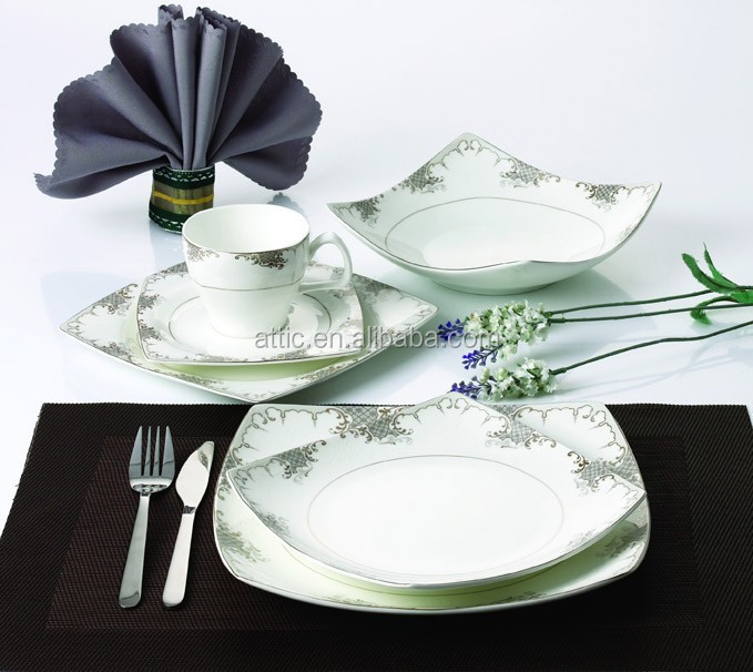 24pcs Luxury Fine Bone China Square Turkish Porcelain Dinnerware Sets With RoyalElegant DesignFor 4 People - Buy Turkish Dinnerware SetBone China ...  sc 1 st  Alibaba & 24pcs Luxury Fine Bone China Square Turkish Porcelain Dinnerware ...