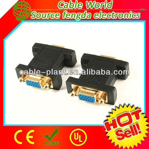 VGA connector HD15 female to female adapter/connector