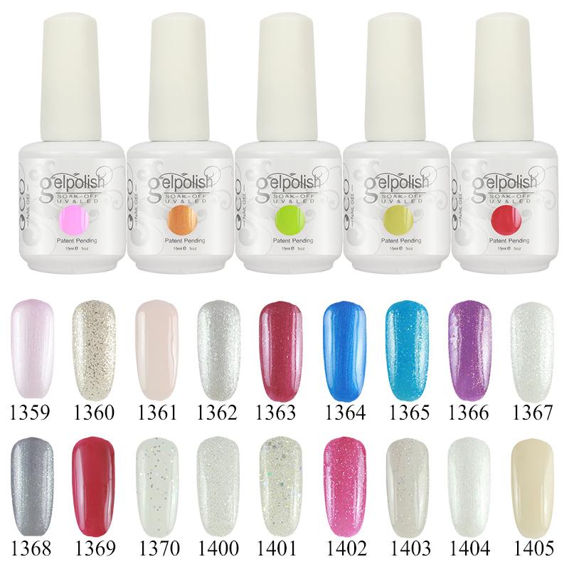 Choose 5 Colors 15ml Gelishgel Soak off UV Nails Gel Color Polish Professional Gel nails