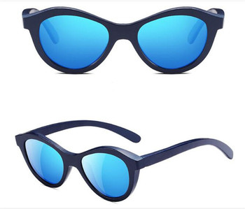 52d0a578cd5 amazon hot selling 100% UVA UVB protection kids children vintage wood frame  mirrored polarized sunglasses