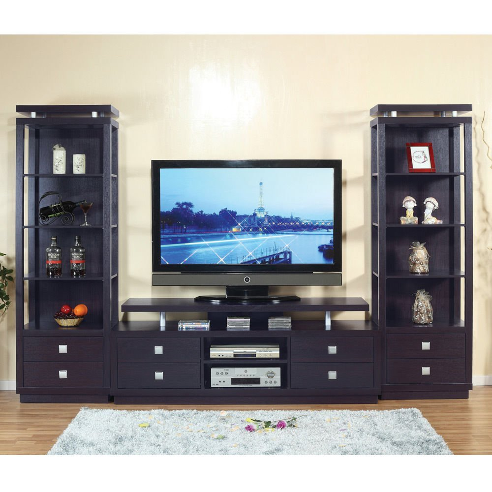 1perfectchoice Living Room Furniture 3 Pcs Tv Stand