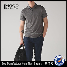 MGOO Top Quality Button Up Dri Fit Polo T Shirts Short Sleeve Fitness Men Polo Shirt