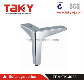 TK J023 Y Shape Metal Chrome Sofa Leg Decorative Furniture Feet Replacement  For Cabinet