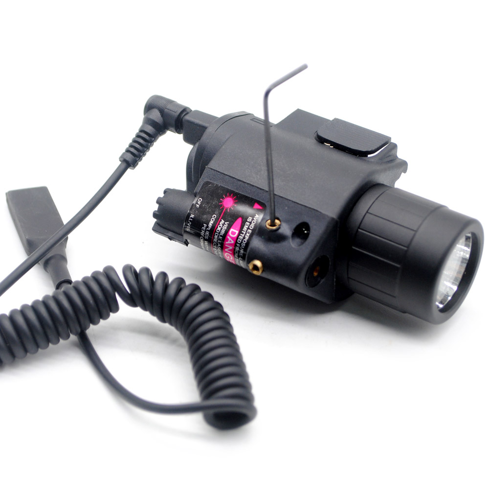 New tactical Red Dot Laser & LED Torch Flashlight Torch Sight Scope for Rifle/Gun with Hunting Mount Rail