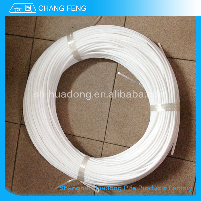 Factory Custom 6mm thin wall customized plastic white virgin 2mm ptfe tube