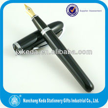 2014 Luxury Metal black golden nib fountain pen with shiny silver chrome for bussiness