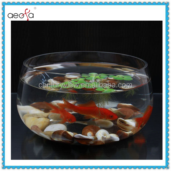 New Design Cheap Wholesale Spherical Glass Fish Bowl For Home Decorage