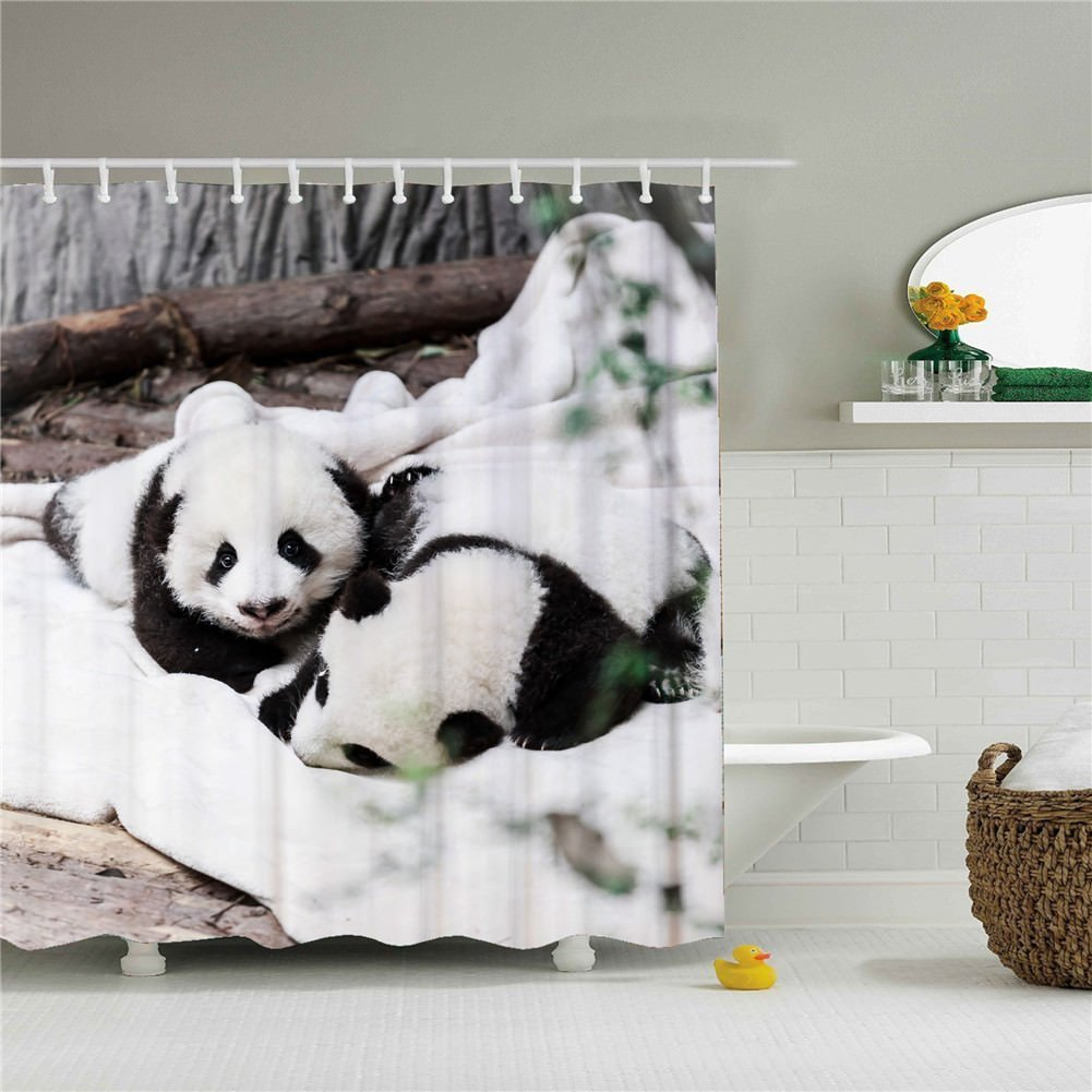 Get Quotations Cool Cute Panda And Polar Bear Shower Curtain Designs SIZE 60x72 Inch