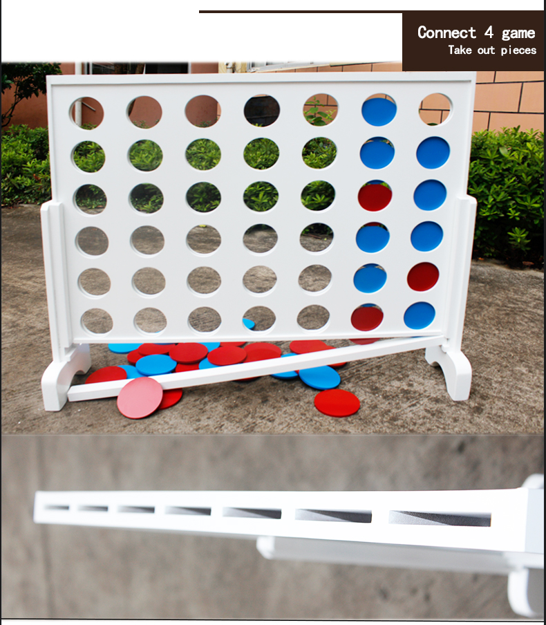 giant wood connect 4 four in a row game set for kids toy playing outdoor yard game