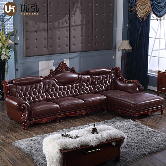 Modern Top Grain Chester Leather Sofa