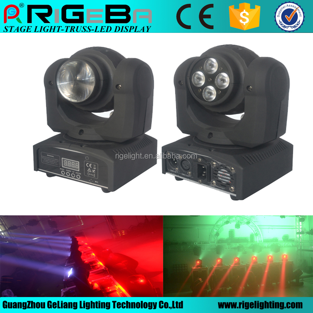 New led moving head 5 pcs 10w RGBW 4in1 beam LED head light /Double faced beam head 4 in1 dmx stage light