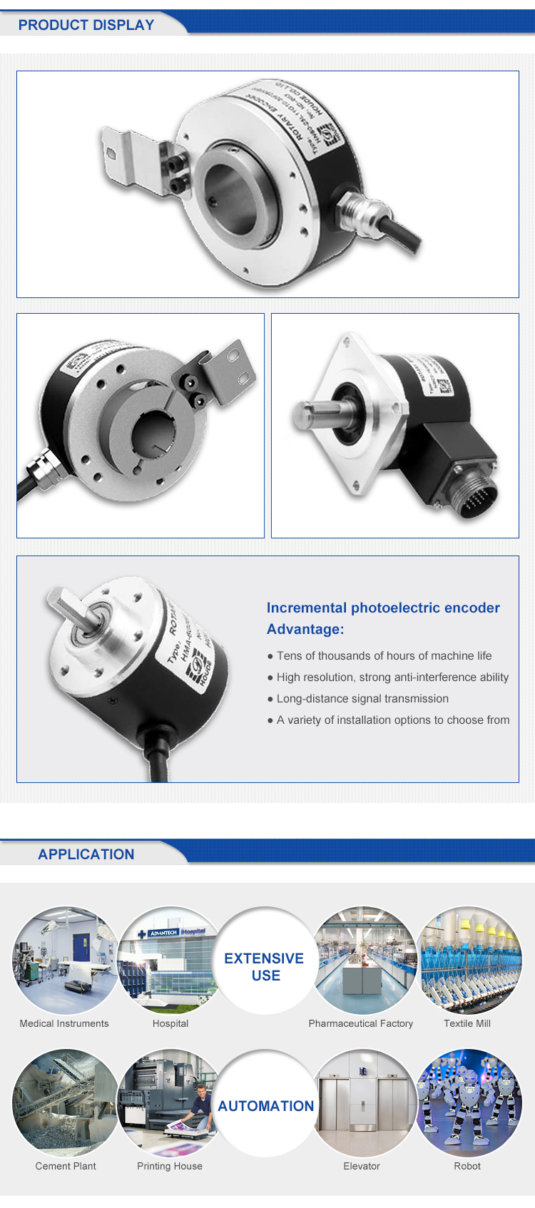 Top Quality Incremental Position Encoder Optical Encoder 100 H