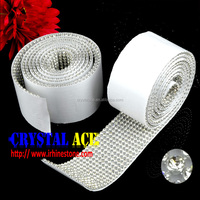 Self adhesive rhinestone mesh sticker crystal mesh sticker China
