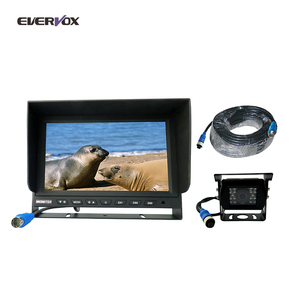 High density 9inch tft lcd dvr recording monitor quad 9 inch monitor