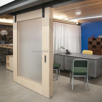 Canada Pine Larch Wood Interior Doors Ready Door Frame White Color Barn Sliding Door With Track Buy Barn Sliding Door With Trackinterior Doors