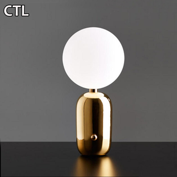 Italy touch table lamp glass decorative desk lamp 3D color table lamp for restaurant