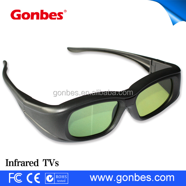 hot fashion design plastic adults infrared 3d active shutter tv glasses