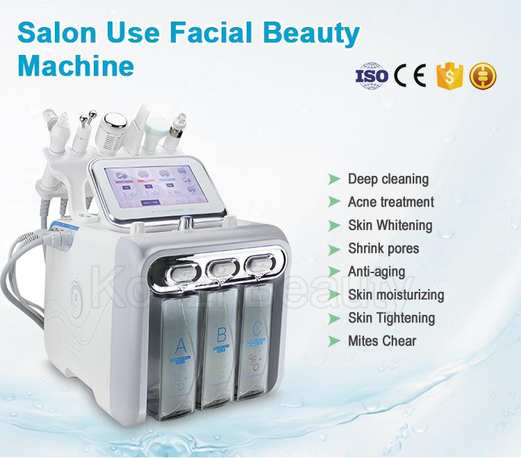 إصلاح الجليد آلة عالية التردد الوجه/ultrasonic rf الماس اللوازم الطبية تقشير الوجه الجمال