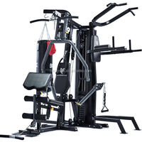 SJ-M9 Quality assurance Indoor fitness equipment with preacher curl bench 4 multi gym station