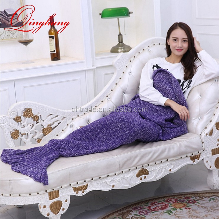All Seasons Sleeping Bags Most Popular Knitting Mermaid Tail Blanket for Adults and Kids