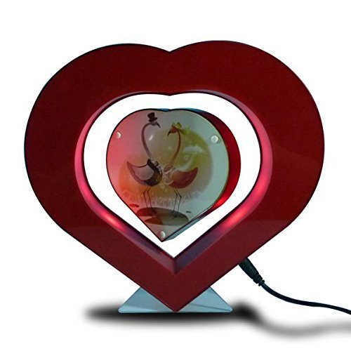 Gifts Love Heart Shape Magnetic Levitation Photo Frame Floating In Air Display