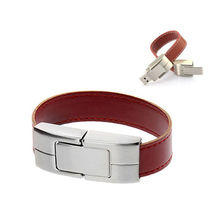 Christmas gift Model Wristband iron leather USB Flash 2.0 Memory Sticks Drive Pen Disk 8GB 16GB